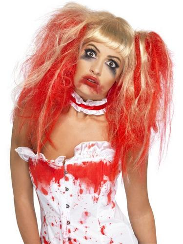 SALE! Blood Drip Zombie Wig Ladies Halloween Party Fancy Dress Costume Accessory Thumbnail 1