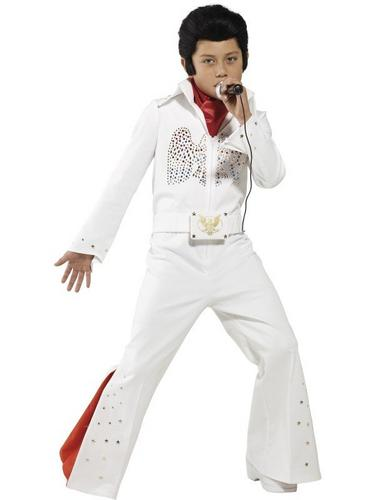 Boys 2 Piece Elvis Fancy Dress Costume Thumbnail 1