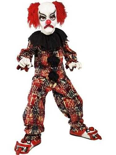 Scary Clown Fancy Dress Costume Boys Thumbnail 1