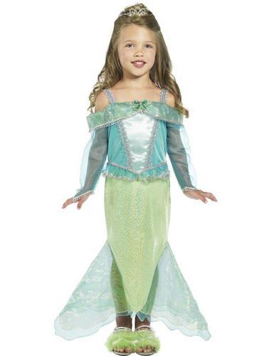 Girls Mermaid Princess Fancy Dress Costume Thumbnail 1