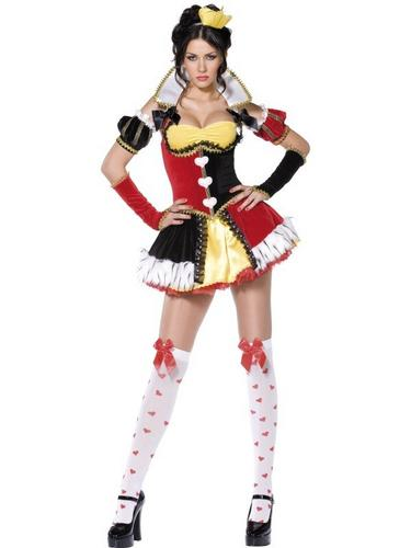 Queen of Hearts Fancy Dress Costume Thumbnail 2