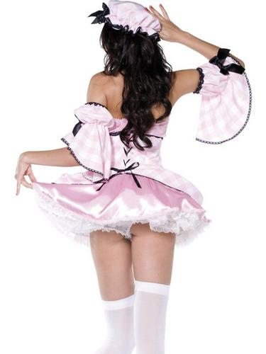4 Piece Miss Muffet Fancy Dress Costume Thumbnail 3