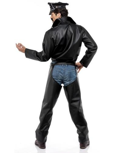 Village People Biker Fancy Dress Costume Thumbnail 3