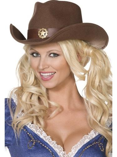 Wild west Cowboy Fancy Dress Hat Thumbnail 1