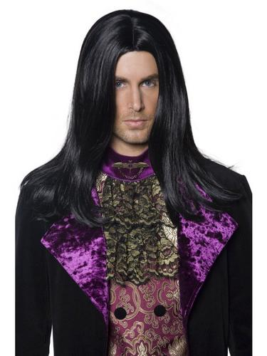 Gothic Count Fancy Dress Wig Thumbnail 1
