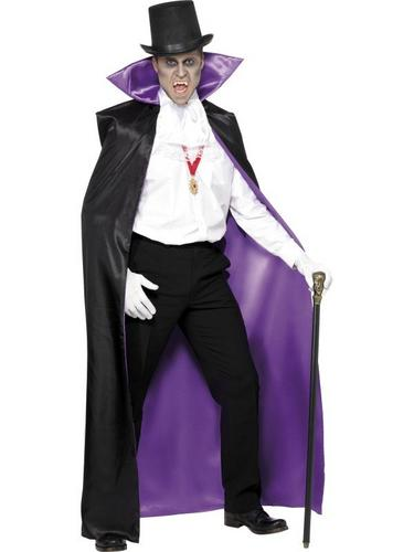 Black and Purple Count Reversible Cape Thumbnail 1
