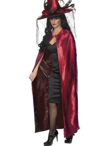 Red and Black Reversible Cape Thumbnail 1