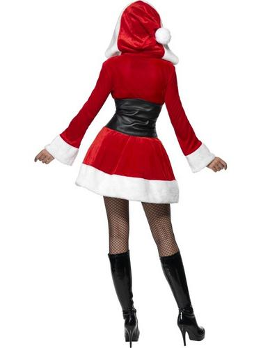 Fever Hooded Santa Fancy Dress Costume Thumbnail 3