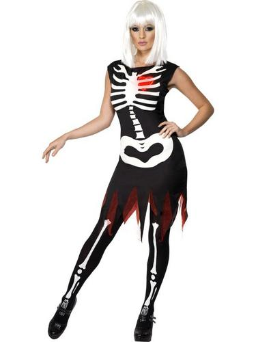 Bright Bones Glow in the Dark Fancy Dress Costume Thumbnail 1