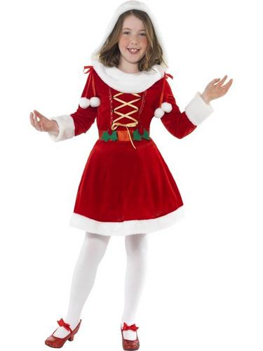 Little Miss Santa Fancy Dress Costume Thumbnail 1