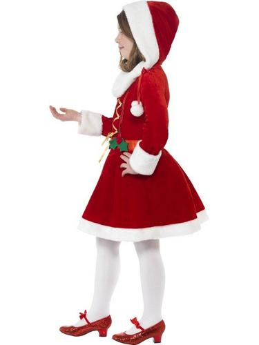 Little Miss Santa Fancy Dress Costume Thumbnail 3