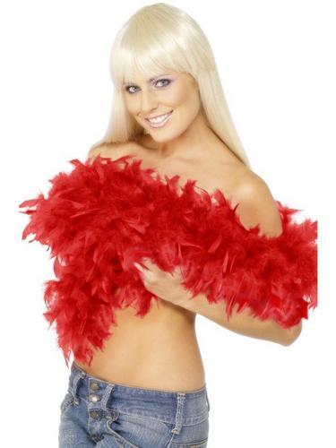 Feather Boa Red Thumbnail 1