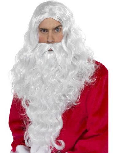 Santa Long Fancy Dress Wig Thumbnail 1