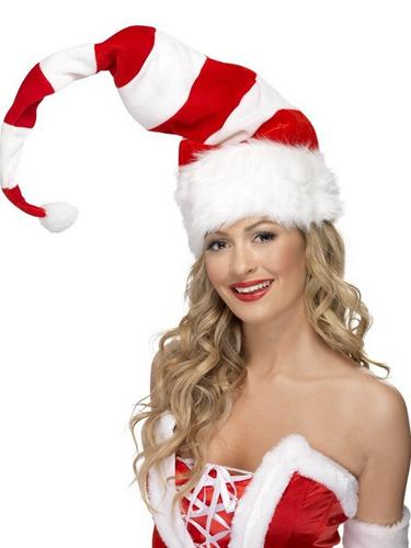 Striped Santa Fancy Dress Hat Thumbnail 1