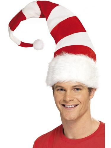 Striped Santa Fancy Dress Hat Thumbnail 2