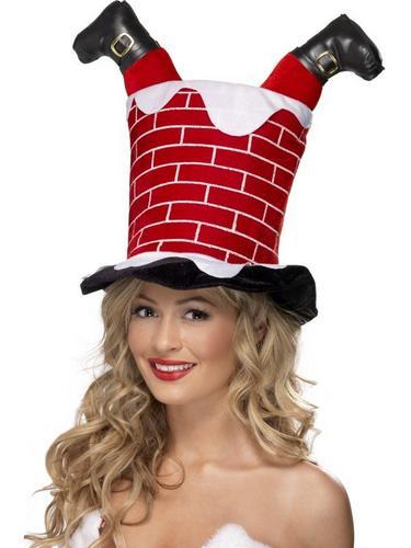 Santa Stuck in Chimney Fancy Dress Hat Thumbnail 1