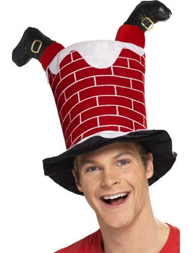 Santa Stuck in Chimney Fancy Dress Hat Thumbnail 2