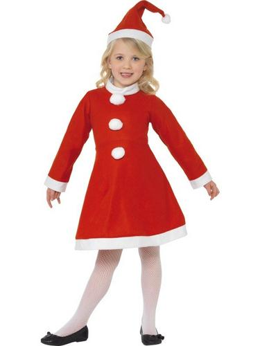 Value Santa Girl Fancy Dress Costume Thumbnail 1