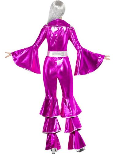 1970s Dancing Dream Fancy Dress Costume Pink Thumbnail 2