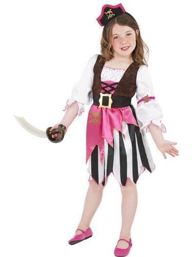 Pink Pirate Girl Fancy Dress Costume Thumbnail 1