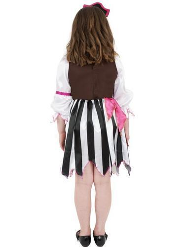 Pink Pirate Girl Fancy Dress Costume Thumbnail 2