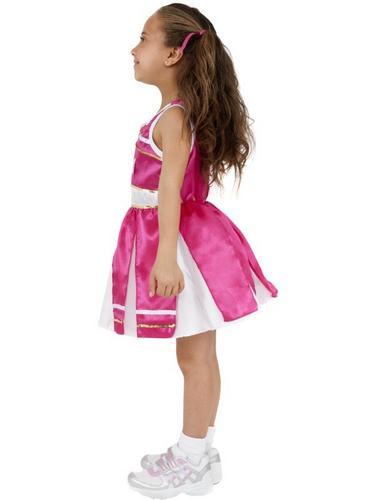 Girls Cheerleader Fancy Dress Costume Thumbnail 3