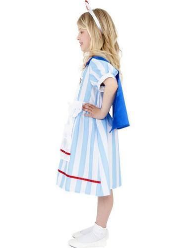 Girls Vintage Nurse Fancy Dress Costume Thumbnail 3
