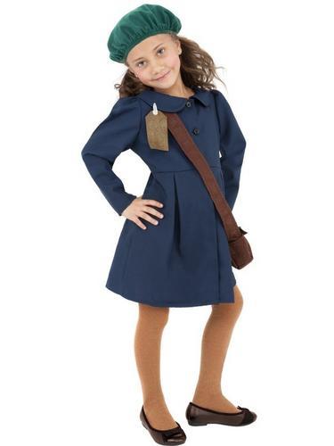 World War II Evacuee Girl Fancy Dress Costume Thumbnail 1