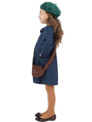 World War II Evacuee Girl Fancy Dress Costume Thumbnail 3