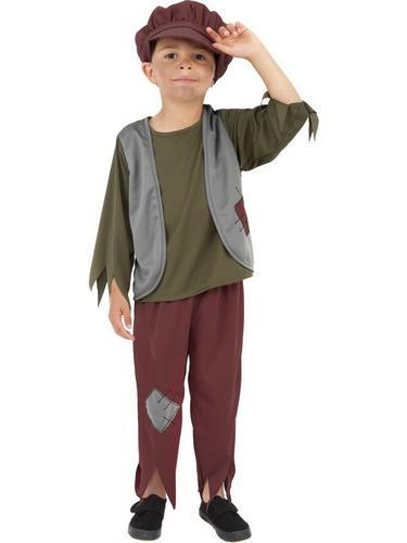 Victorian Poor Boy Fancy Dress Costume Thumbnail 1