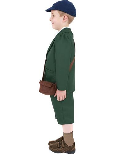 World War II Evacuee Boy Fancy Dress Costume Thumbnail 3
