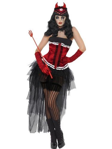 Diva Demonique De Vil Fancy Dress Costume Thumbnail 1