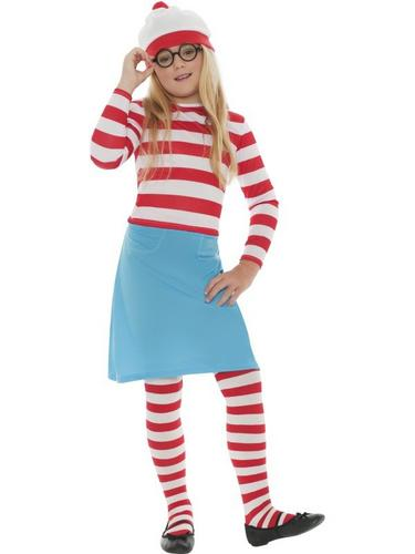 Wheres Wally? Wenda Child Fancy Dress Costume Thumbnail 1