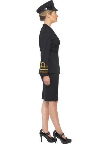Navy Officer Fancy Dress Costume Female Thumbnail 3