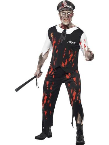 Zombie Policeman Fancy Dress Costume Thumbnail 1