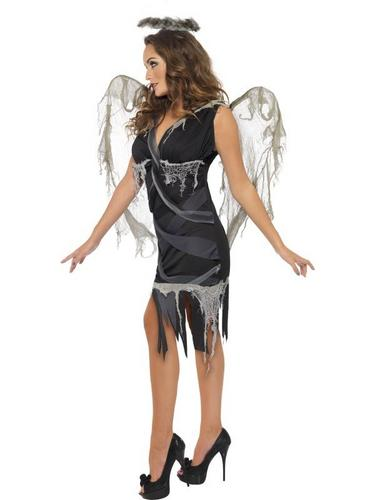 Dark Fallen Angel Fancy Dress Costume Thumbnail 3