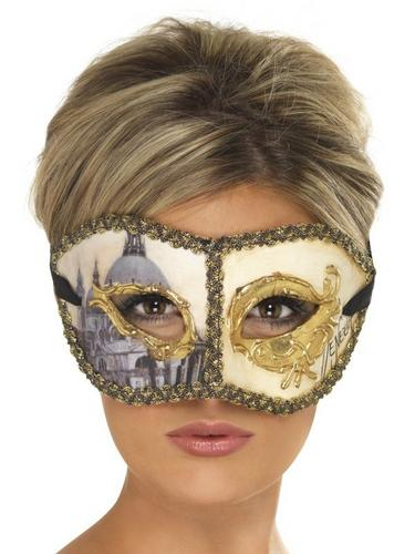 Venetian Colombina Venice Fancy Dress Mask Thumbnail 1