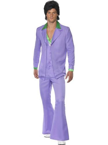 Lavender 1970s Suit Fancy Dress Costume Thumbnail 1