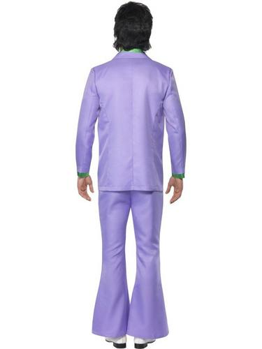 Lavender 1970s Suit Fancy Dress Costume Thumbnail 2