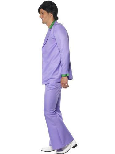 Lavender 1970s Suit Fancy Dress Costume Thumbnail 3