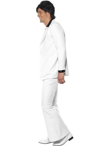 White 1970s Suit Fancy Dress Costume Thumbnail 3