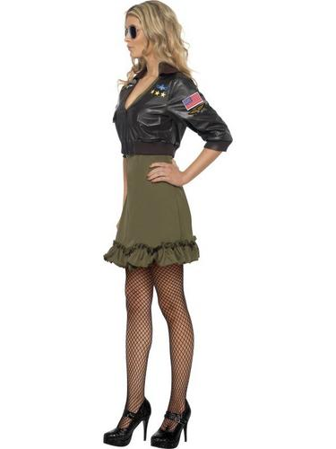 Sexy Top Gun Fancy Dress Costume Thumbnail 3