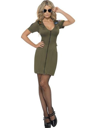 Top Gun Sexy Female Fancy Dress Costume Thumbnail 1