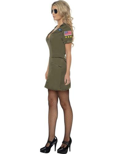 Top Gun Sexy Female Fancy Dress Costume Thumbnail 3