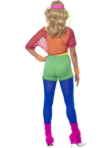 Lets Get Physical Girl Fancy Dress Costume Thumbnail 2