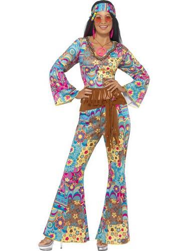 Hippy Flower Power Fancy Dress Costume Thumbnail 1