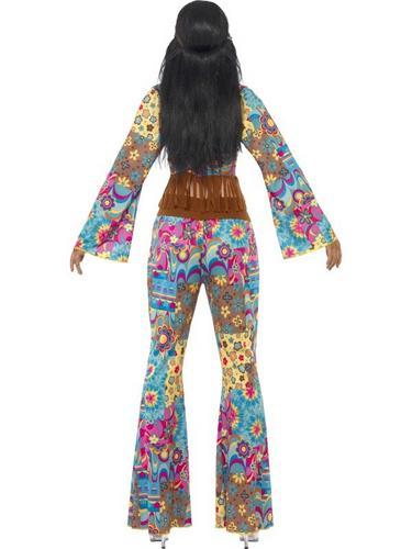 Hippy Flower Power Fancy Dress Costume Thumbnail 2