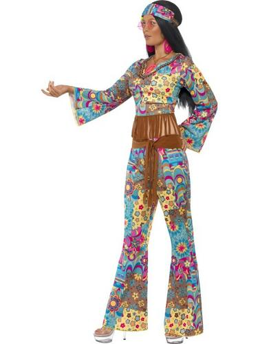 Hippy Flower Power Fancy Dress Costume Thumbnail 3