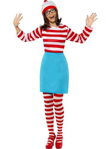 Wheres Wally Female Fancy Dress Costume Thumbnail 1