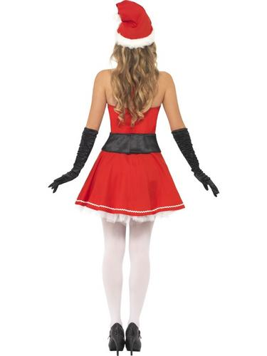 Pom Pom Santa Fancy Dress Costume Thumbnail 2